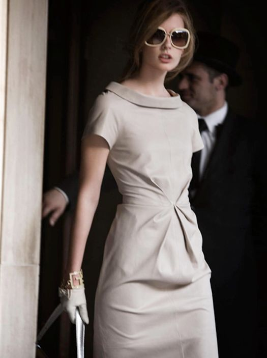 Cream...I dont normally go for Jackie O looks but this has a a classic and yet modern panache