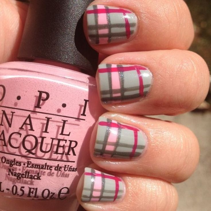 17 Best Ideas About Plaid Nails On Pinterest