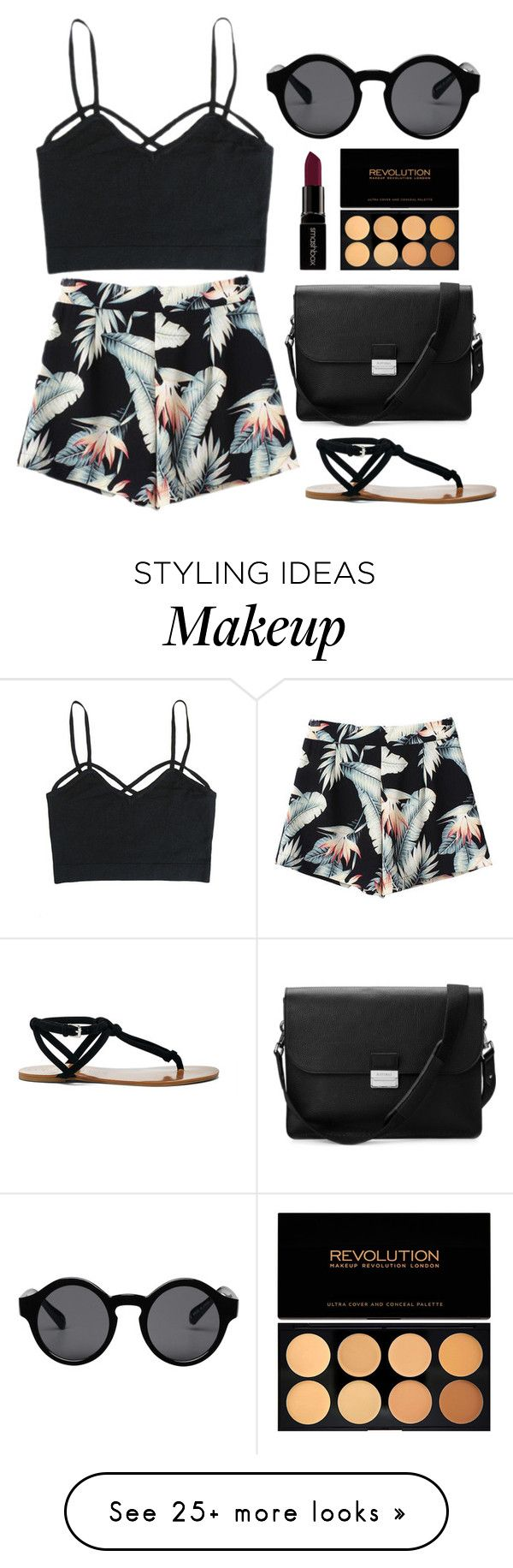 """#24"" by mandyhoran1 on Polyvore featuring Monki, Aspinal of London, Smashbox and Sole Society"