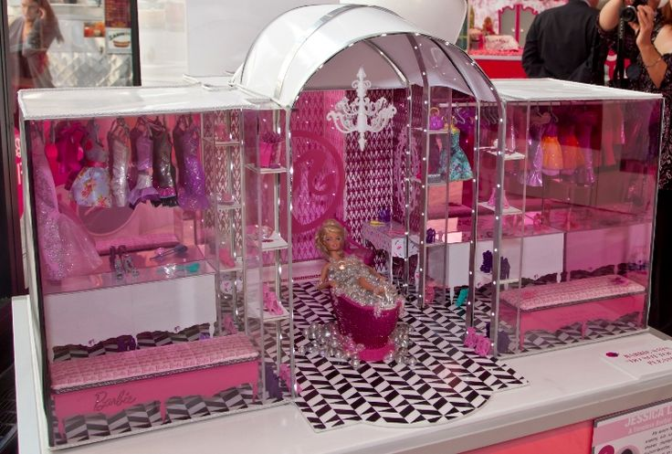 A Timeless Barbie Powder Room By Jessica L Mazur