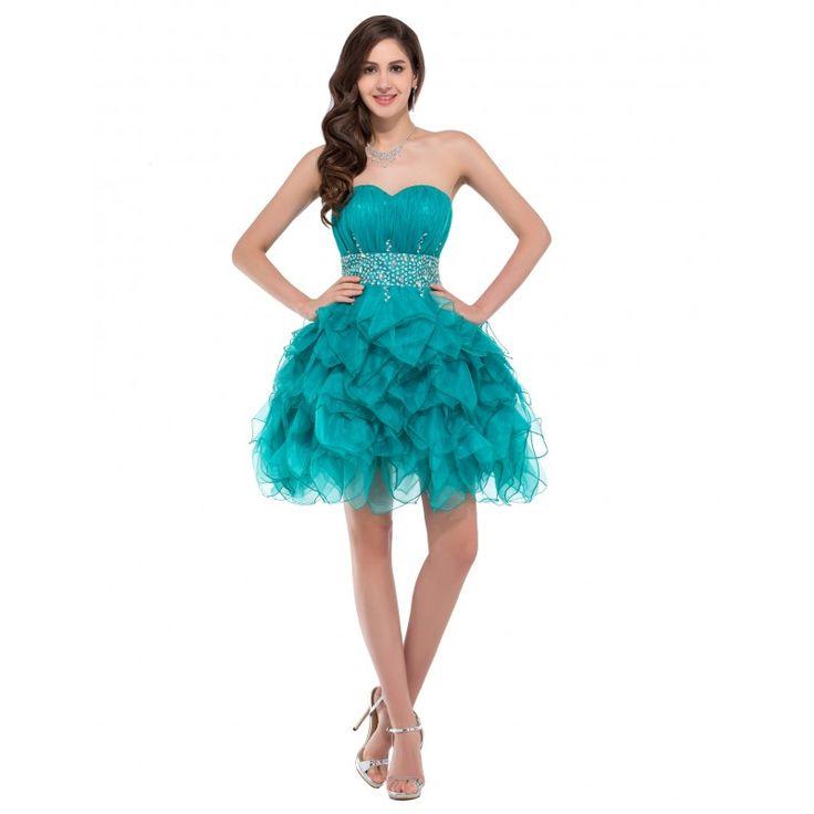 Tyrkysové spoločenské šaty CL6177