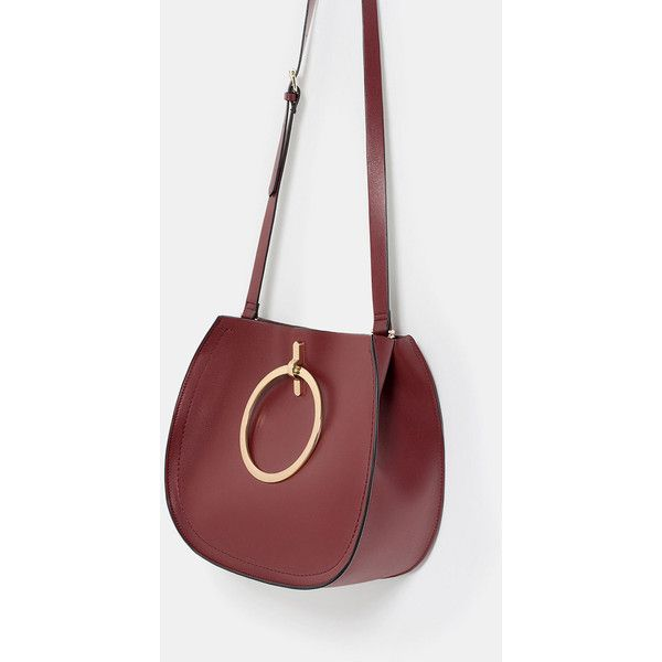 Zara Tote With Metallic Straps (905 EGP) ❤ liked on Polyvore featuring bags, handbags, tote bags, metallic tote handbags, red tote bag, tote bag purse, red tote handbag and zara tote bag