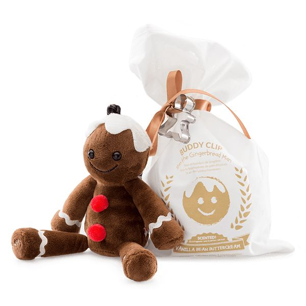Stan the Gingerbread Man + Vanilla Bean Buttercream Fragrance Buddy Clip -  Meet Stan the Gingerbread Man, a brand-new addition to Scentsy's best-selling Buddy Clip Collection.