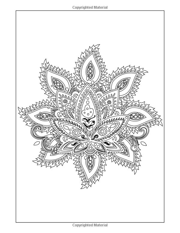 Coloring Books for Grownups Indian Mandala Coloring Pages