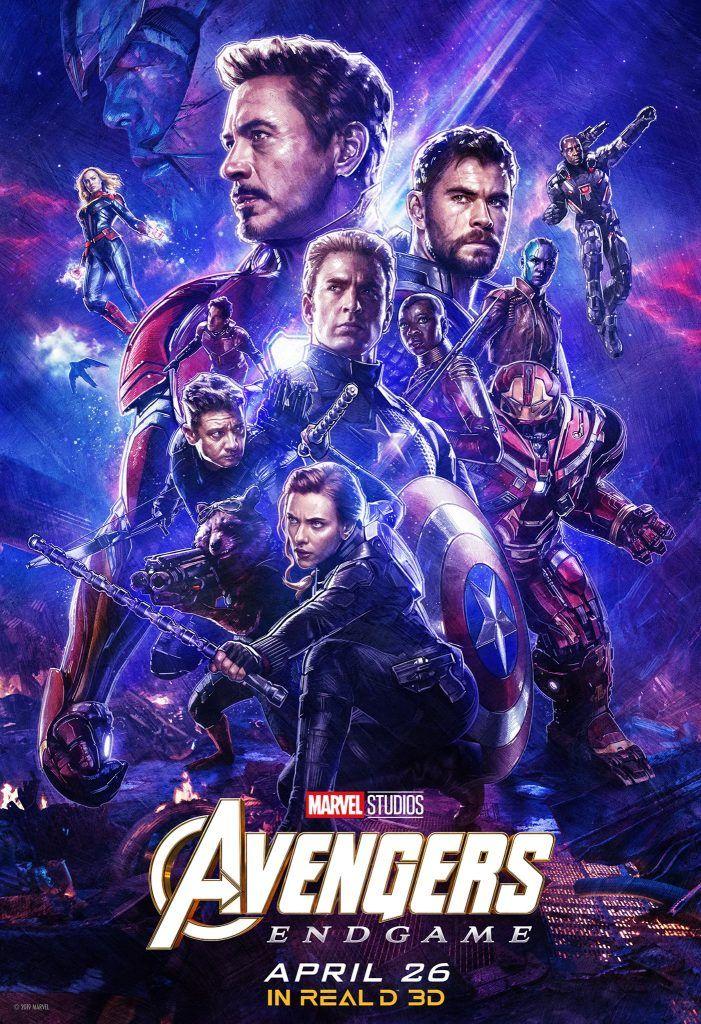 """Avengers 4 Endgame  27/""""x 40/""""  movie poster Thor Captain America Iron man,"""