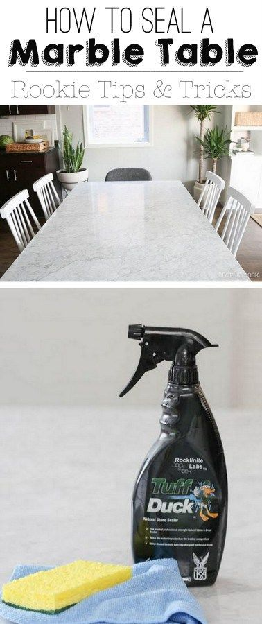 How to seal a marble dining room table. It's not as difficult as you might think. Now your countertops and marble furniture pieces will be safe from stains and watermarking!