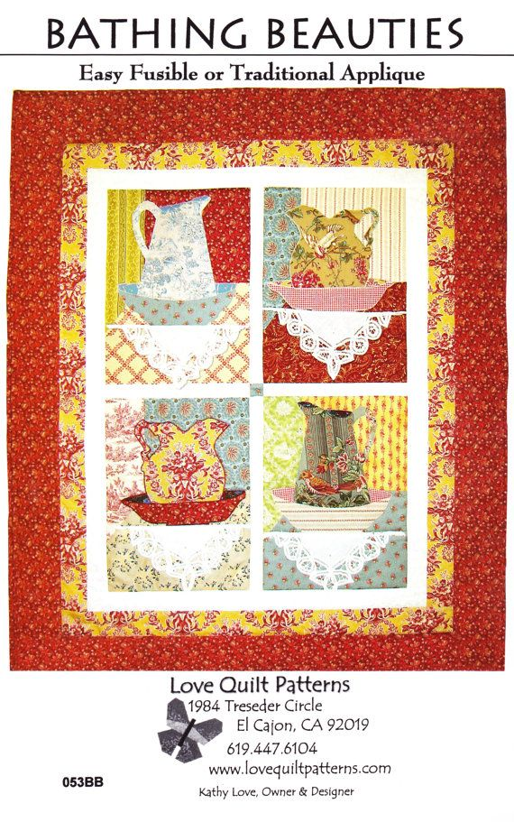 Bathing Beauties by Love Quilt Patterns by MoonlightMercantile