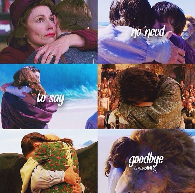 Heart breaking. I always cry at the end of Narnia.