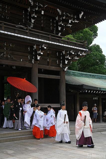 Japanese traditional wedding at Meiji Jingu Shrine, Tokyo