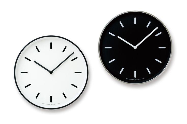【送料390円】。Lemnosレムノス 奈良雄一 レムノス シンプルなウォールクロック 直径25cm MONO Clock【モノトーン 北欧雑貨 インテリア 壁掛け時計 リビング雑貨 デザイン時計 デザイナーズ時計 おしゃれ】