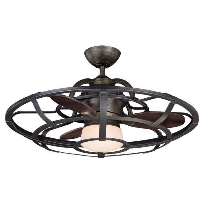 Features:  -Fan.  -Number of lights: 1.  -Reclaimed wood finish.  -Steam vent hole: No.  -Fan cannot be installed without using lighting kit.  -Includes hand held remote..  Motor Finish: -Chestnut.  B
