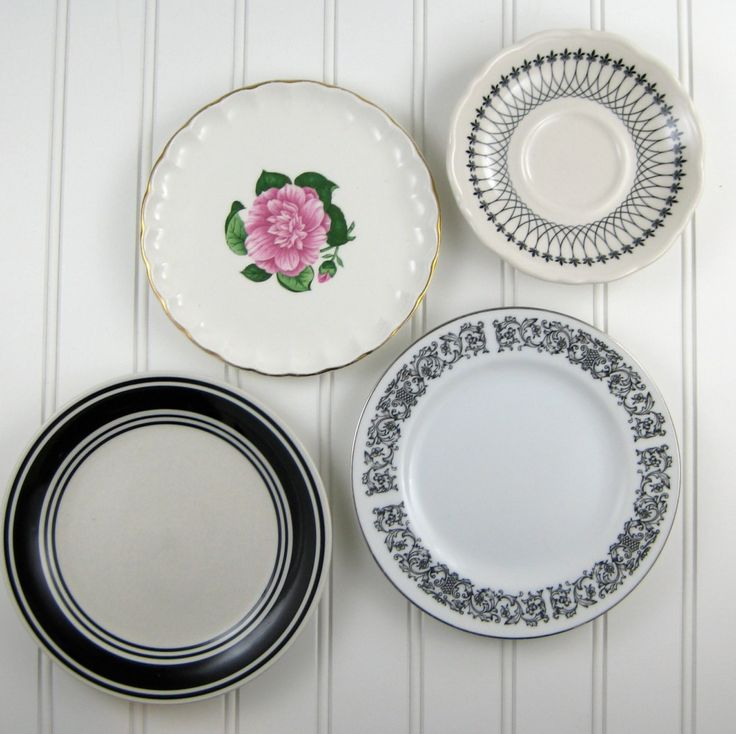 Kitchen Wall Decor With Plates : Decorative plates vintage mismatched kitchen