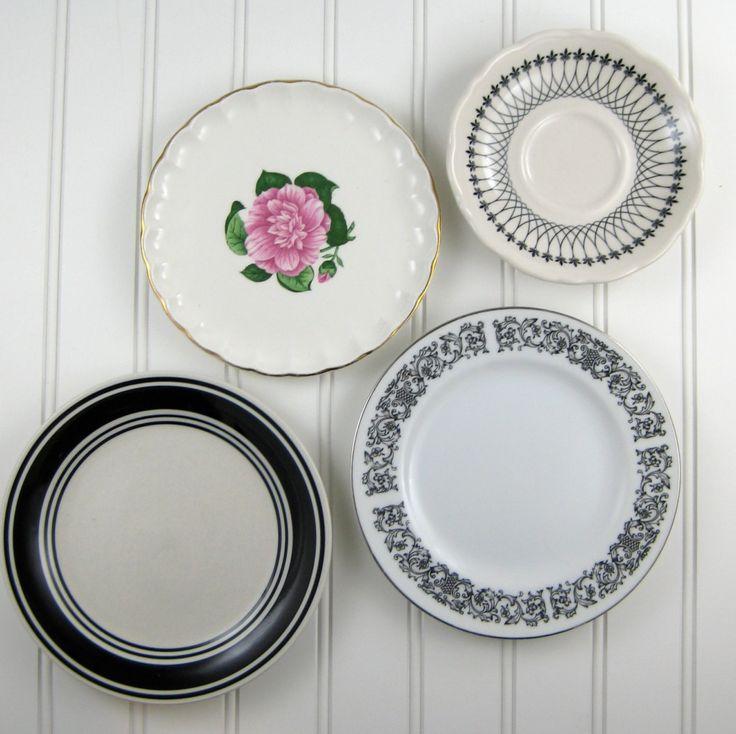 Kitchen Wall Decor With Plates : Decorative plates vintage mismatched kitchen