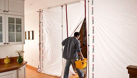 Zipwall Dust Barrier System With Images Remodel Protecting Your Home Home Remodeling