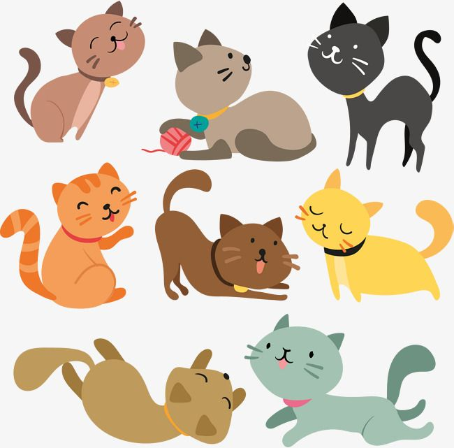 Vector Hand Painted Cartoon Cat Cartoon Cat Vector Png Transparent Image And Clipart For Free Download Cat Vector Cats Illustration Cat Character