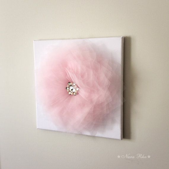 Baby Girl Nursery Decor Baby Pink Flower Girl Nursery by NaraRha