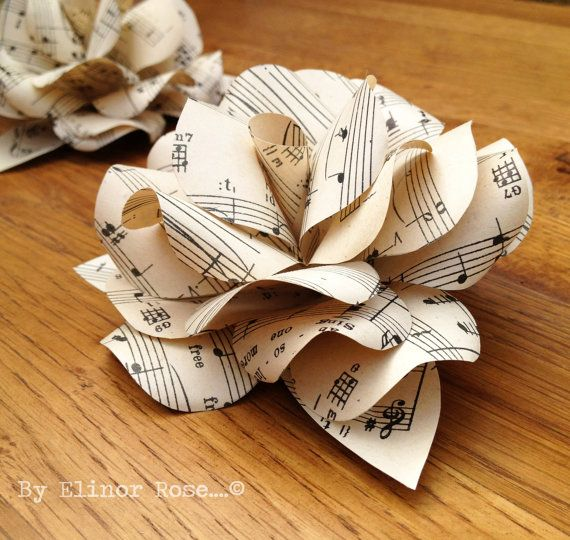 34 best images about upcycled sheet music on pinterest for Paper roses sheet music free