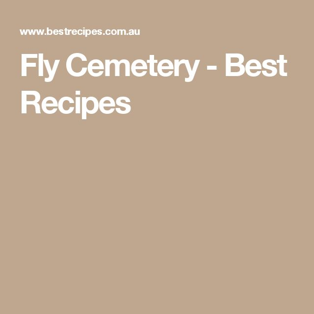 Fly Cemetery - Best Recipes