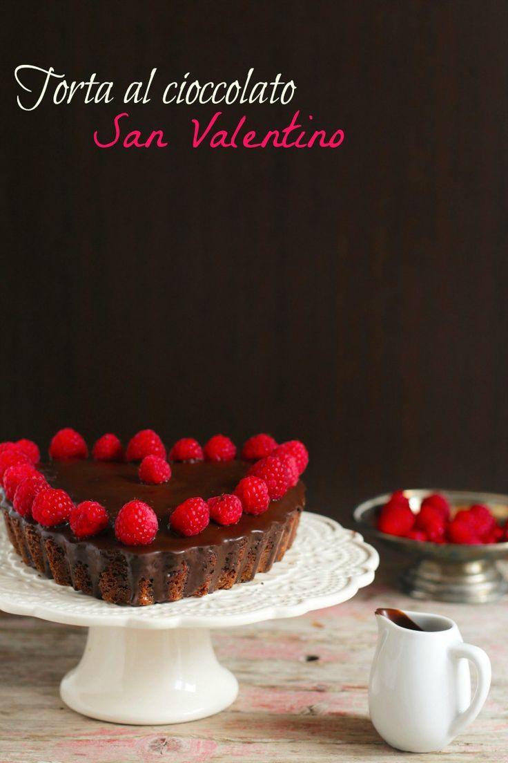 Torta sofficissima cioccolato e lamponi per San Valentino | Le ricette di mamma Gy