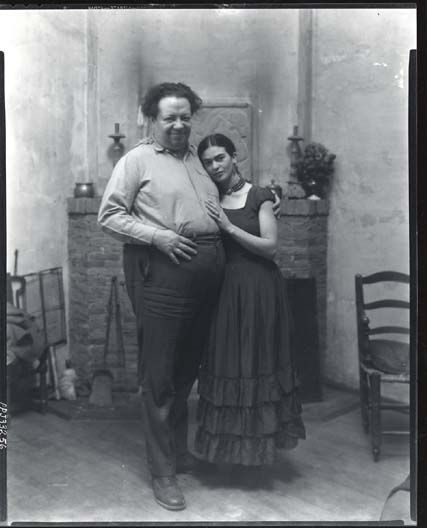 Diego Rivera and Frida Kahlo1930  by Peter A. Juley