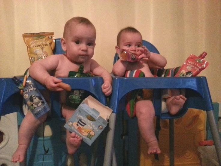 Isaiah (left) and Elijah (right) are two very big Rafferty's Garden fans. Can you tell?    www.raffertysgarden.com    #RaffertysGarden #Babies