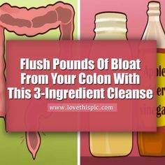 Flush Pounds Of Bloat From Your Colon With This 3-Ingredient Cleanse health remedies remedy apple cider viral viral right now viral posts