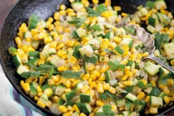 Corn and zucchini toss