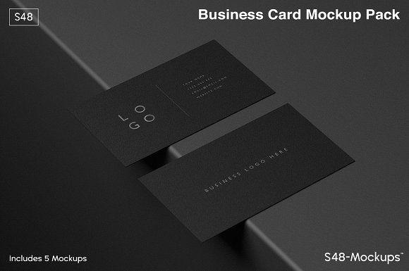 Mockup Pack Black Business Cards Business Card Mock Up Black Business Card Business Card Dimensions