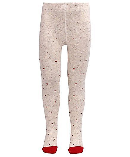 Mustang Footed Tights Stockings - Cream