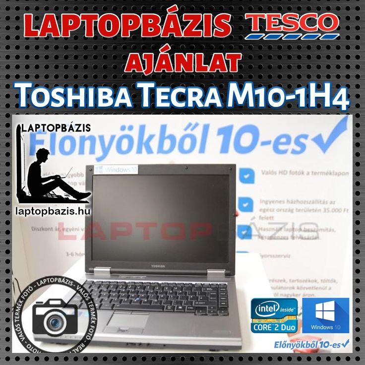 Toshiba Tecra M10-1H4 http://laptopbazis.hu/termek/toshiba-tecra-m101h4-laptop-intel-core-2-duo-p8700-windows-10-250-gb-hdd-dvdrw-wifi-141-lcd-kijelzo/184