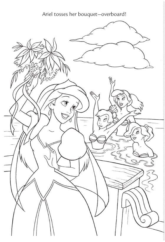 278 best Coloring images on Pinterest Coloring books, Coloring - new little mermaid swimming coloring pages