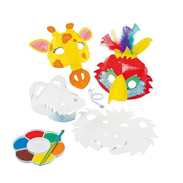 Maski zwierzaki 3D do dekorowana DIY  http://www.mojebambino.pl/maski/749-zwierzece-maski-3d.html