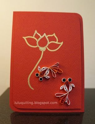 Lulu's Quilling Lab: Happy Chinese New Year  Lotus and Goldfish!