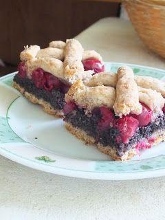 Ízőrző: Meggyes-mákos rácsos pite