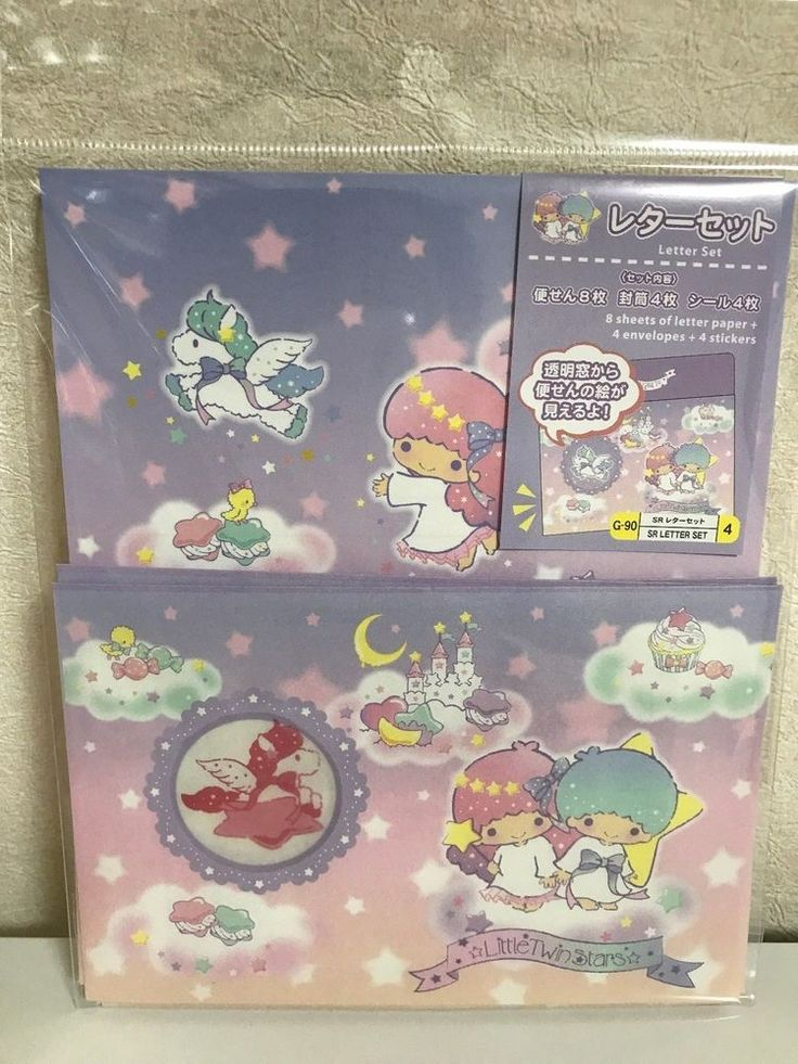 Daiso Japan Paper letters set Little Twin Stars  f/s