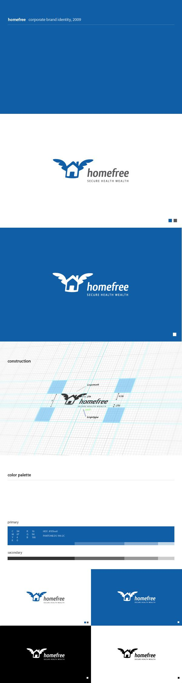 Logo design process for homefree