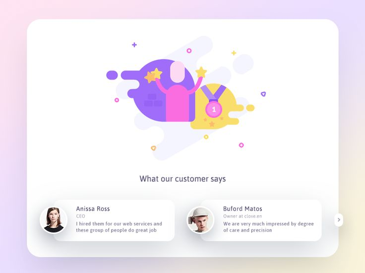 Testimonials (updated) by Prakhar Neel Sharma #Design Popular #Dribbble #shots