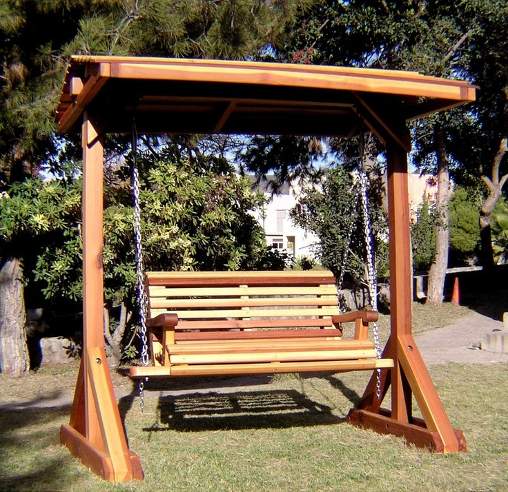 Wooden Porch Swing With Stand - WoodWorking Projects & Plans