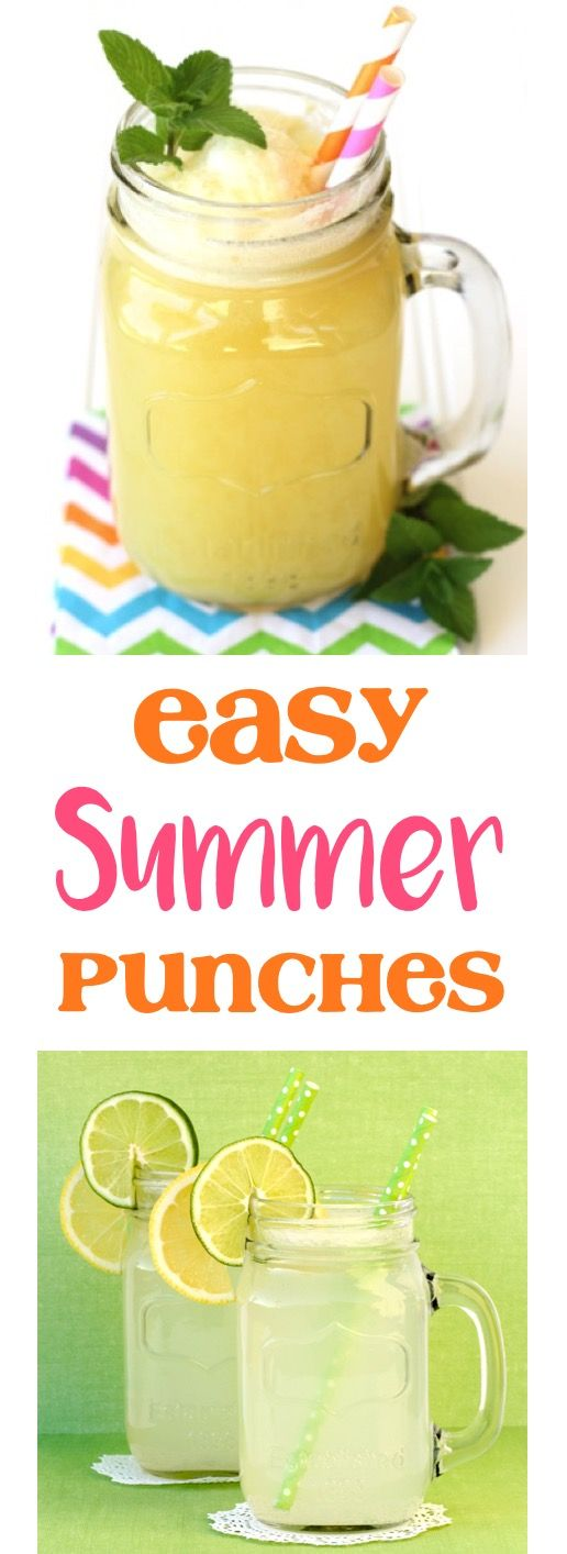 Summer Punch Recipes!  16 Easy Punches that are so simple to make, and the hit of every party! | TheFrugalGirls.com