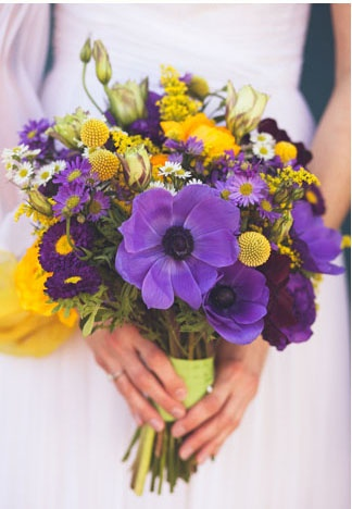 Purple and Yellow Bouquet