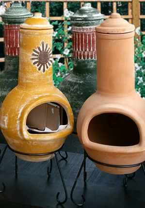 Chimineas make a great alternative to patio heaters or barbecues.