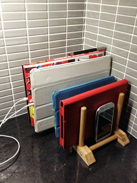 Cheap IKEA Storage & Charging Solution For Multi-Tablet Households