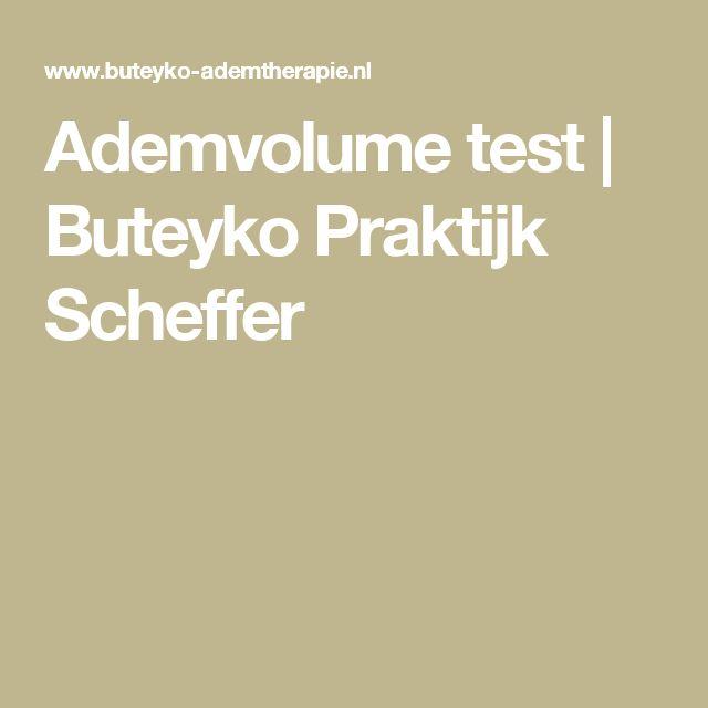 Ademvolume test   Buteyko Praktijk Scheffer