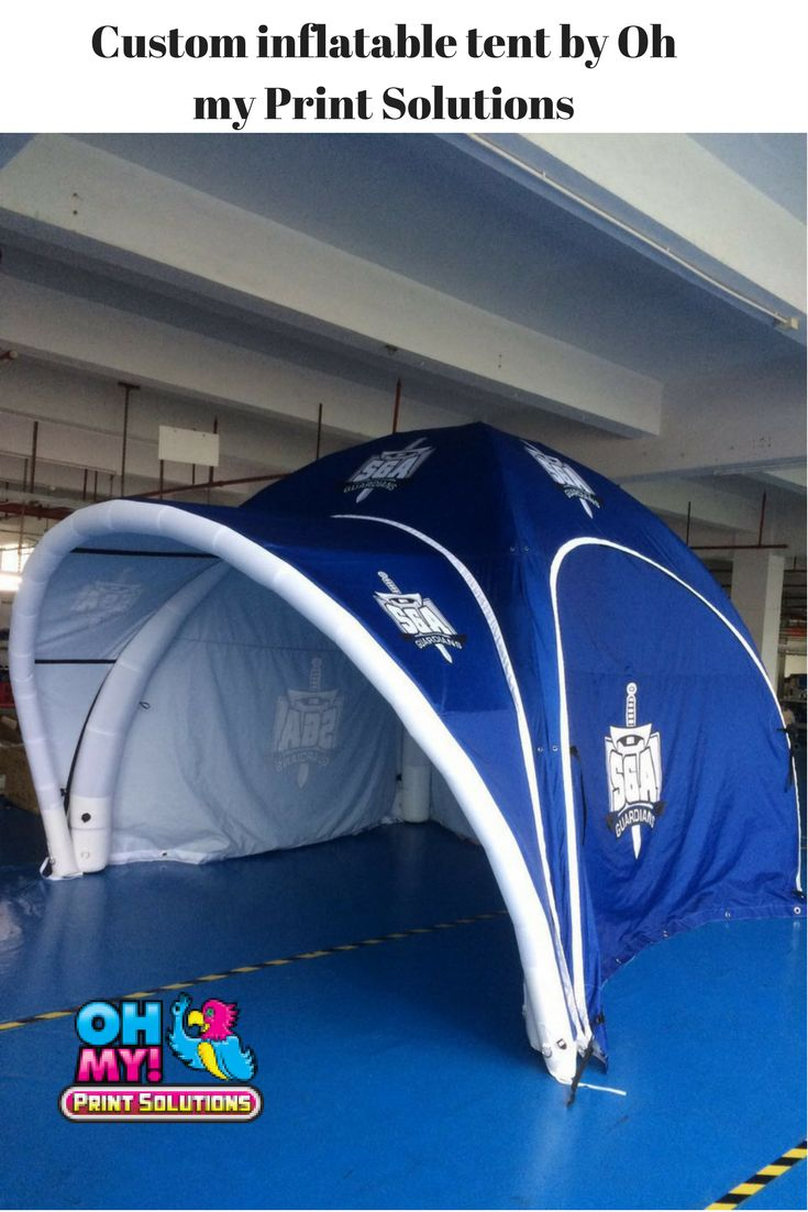 This custom inflatable tent was made for a sports team in Alberta Canada #inflatabletent #Canada #Alberta #customtent