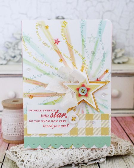 Super Stars Revisited: Twinkle, Twinkle Little Star Card by Melissa Phillips for Papertrey Ink (July 2016)