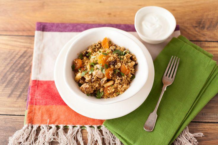 Spicy Chicken Couscous – A Moroccan inspired one-pot dish that is delicious served hot or cold. With different textures and flavours, from spicy to sweet to salty, it's unlikely you'll be left with any leftovers! Get the recipe here http://www.ilovecooking.ie/recipe/spicy-chicken-couscous/