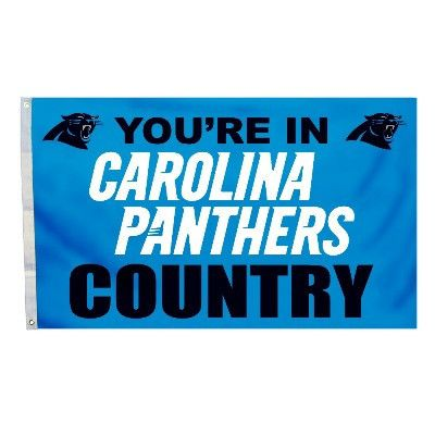 This 3ft x 5ft flag lets everyone know your a Carolina NFL fan and they are In Carolina Panthers Country.