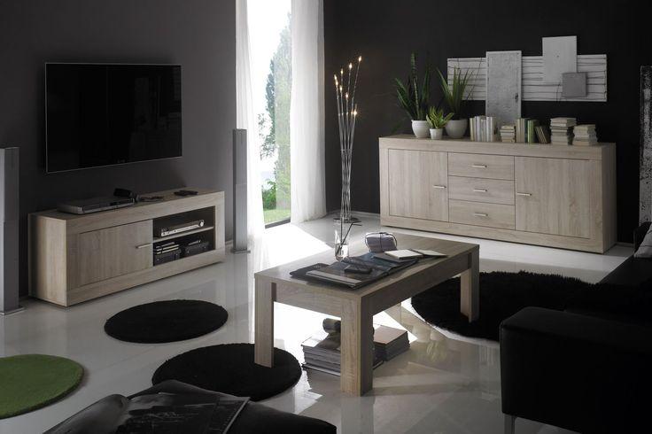 Rustica Sofabord 122/65 Cm Eik Melamin - Trademax