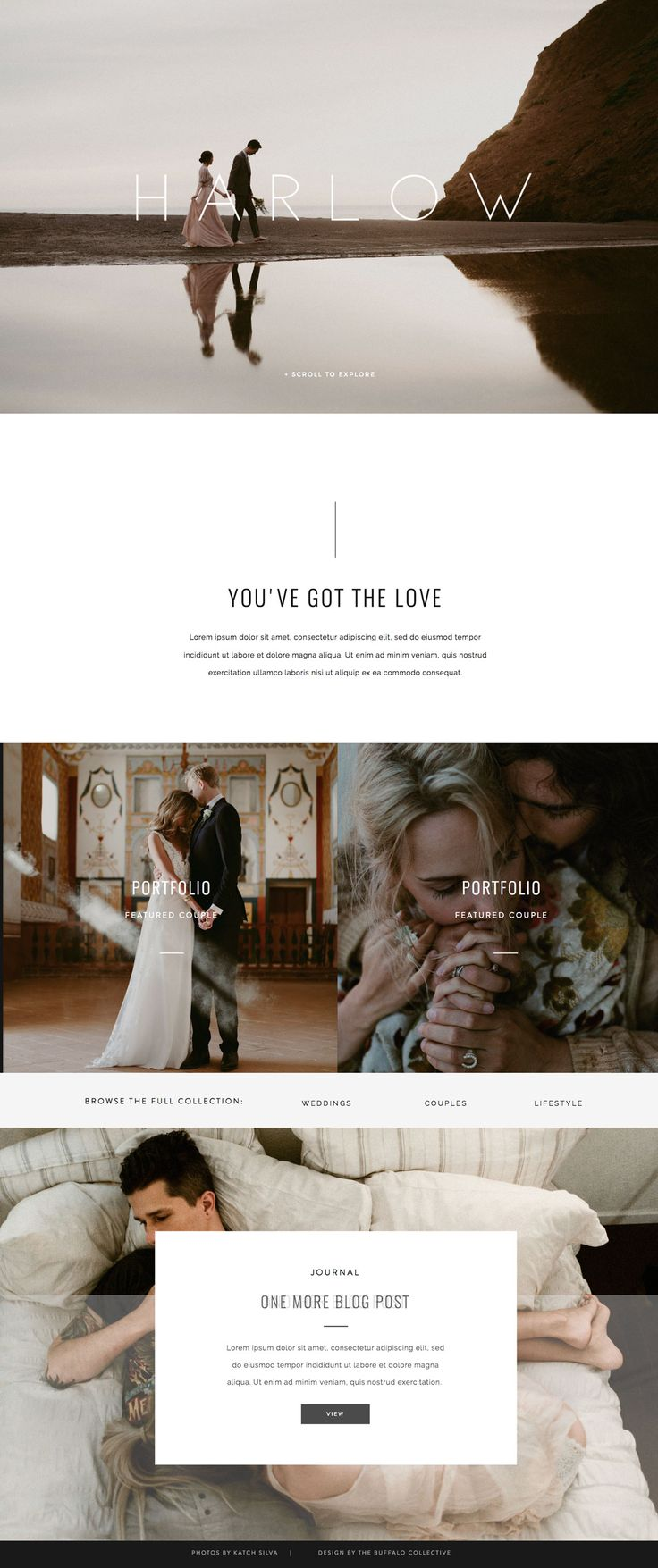 Harlow - Showit Premium Photography Website Template Design