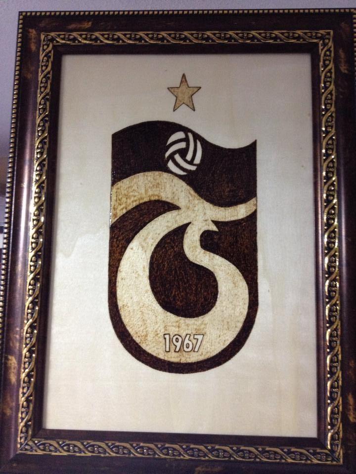 ahşap yakma trabzon spor logo